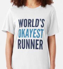 World's Okayest Runner Slim Fit T-Shirt