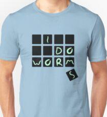 worm font Unisex T-Shirt