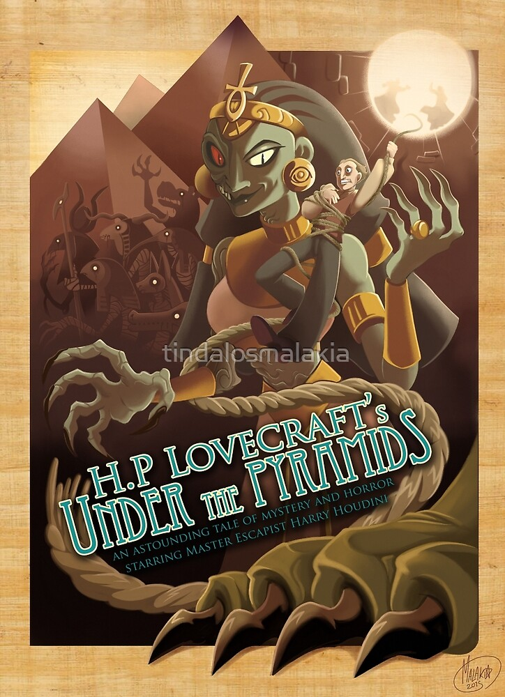 H.P Lovecraft's Under the Pyramids by tindalosmalakia