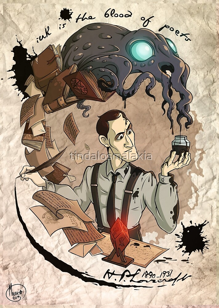 H.P Lovecraft 125th Anniversary  by tindalosmalakia