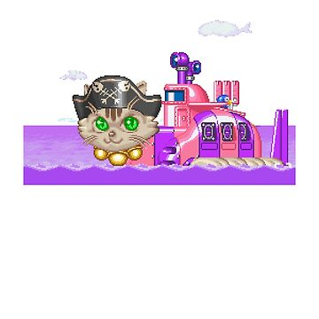 Parodius Cat Sub by obscuregames