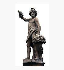Italian Statue in Florence (isolated) Photographic Print