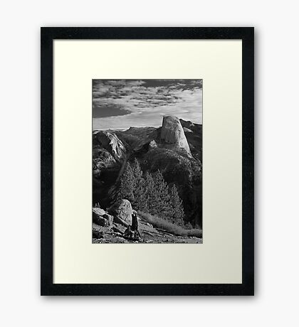 Half Dome from Glacier Point, Yosemite National Park. Framed Print