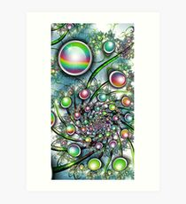 Trippy Gems Art Print