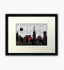 New York City Skyline Swing  Framed Print