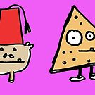 Monkey Fez Dorito Greeting Card of Spiffyness and Nacho Cheez by Ollie Brock