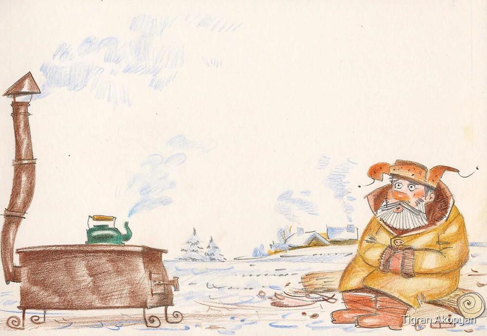 Man and Firewood by Tigran Akopyan