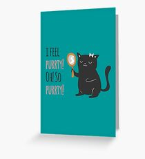 Catty Thoughts! Greeting Card
