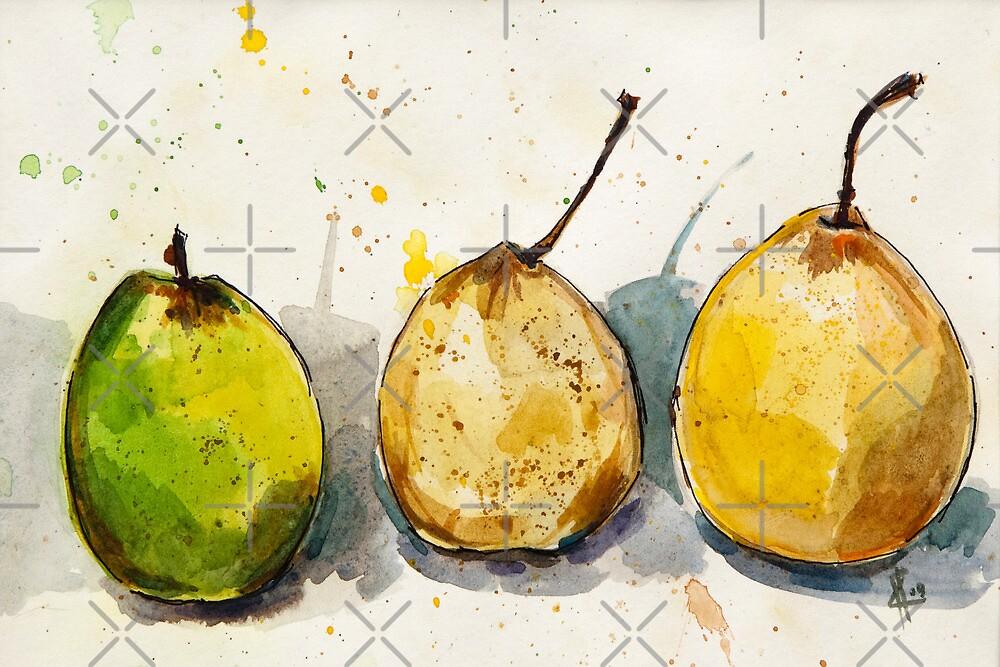 Three Pears by Aleksandra Kabakova