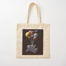Space Travel Cotton Tote Bag