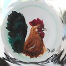 Rooster Plate 1 by Loretta Nash