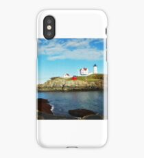Panoramic View of the Nubble Lighthouse iPhone Case/Skin
