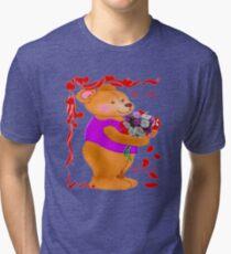 Bear with a Bouquet tee Tri-blend T-Shirt