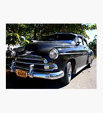 Black Cuban Cruiser Photographic Print