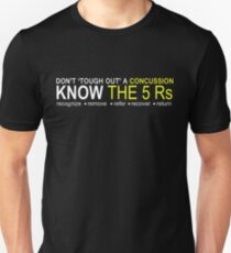 Official USA Rugby Concussion Policy: Know the 5 Rs T-Shirt