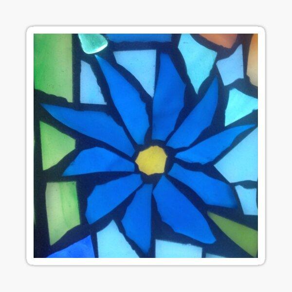 Blue Blossom Sticker