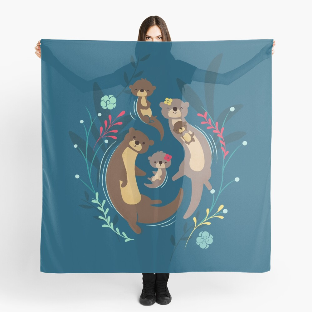 Otter Family Scarf