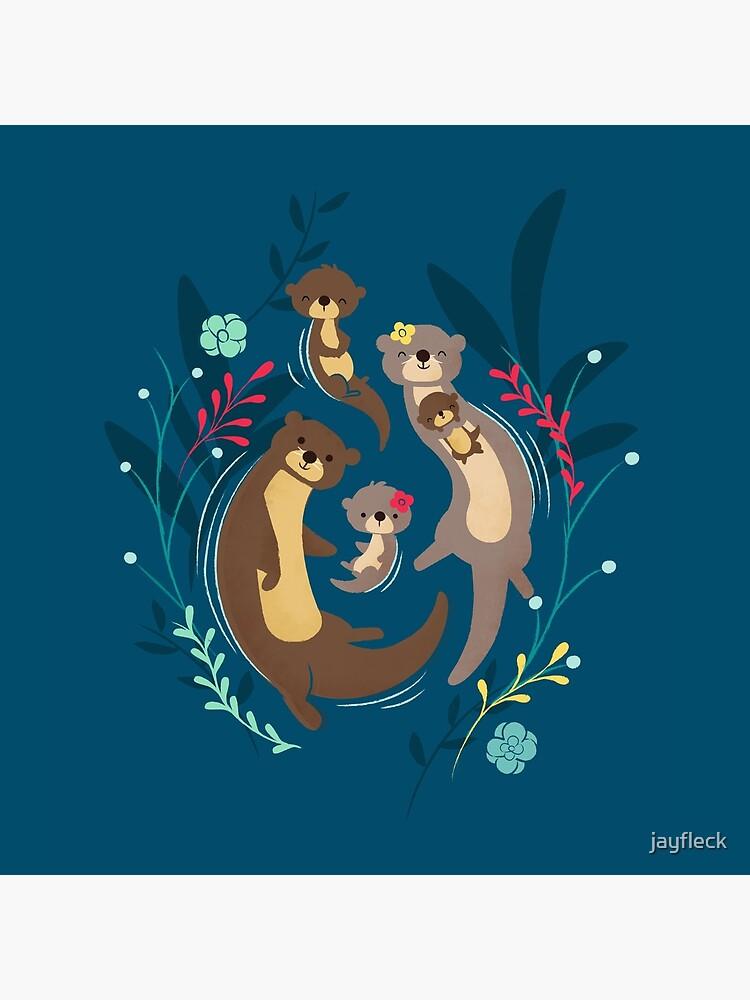Otter Family by jayfleck