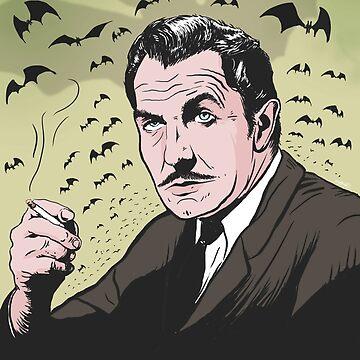 """Vincent Price """"The Bat"""" Illustration! by brettbakker"""