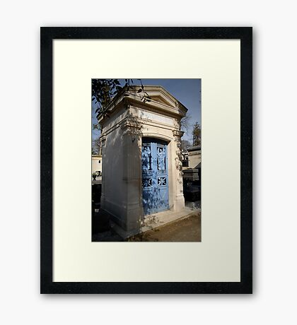 Pere Lachaise tomb door Framed Print