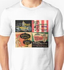 Vintage Matchbook Cover Art Collection #1 T-Shirt