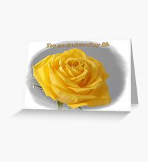 Yellow Rose Love Card and Gifts Greeting Card