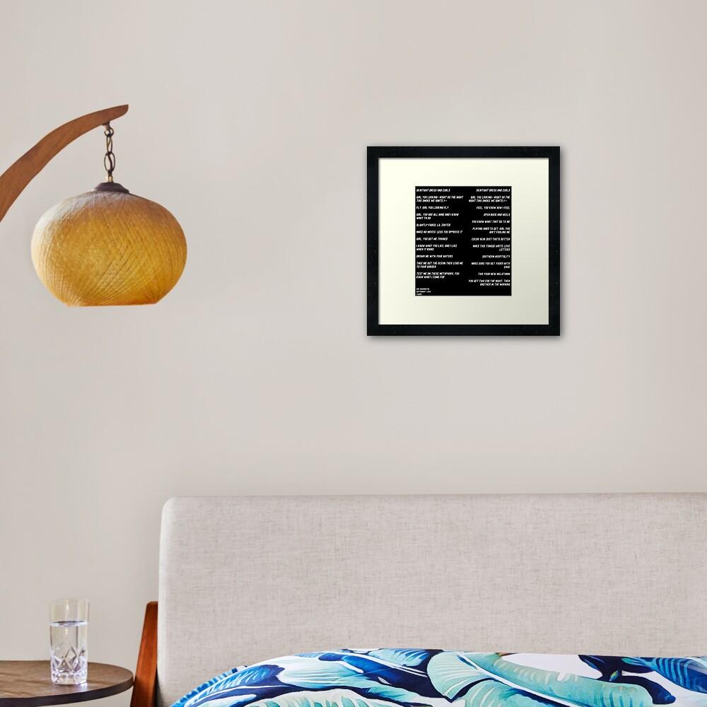 Lover Framed Art Print