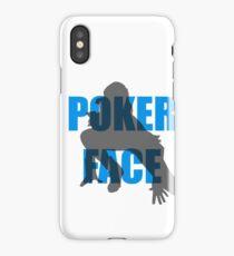 Poker Face Silhouette iPhone Case/Skin