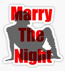 Marry the Night Silhouette Sticker