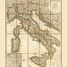 Map of Italy (1851) by allhistory
