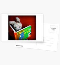Bunny is a bookworm Postcards