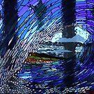 glass wave art by gaylene