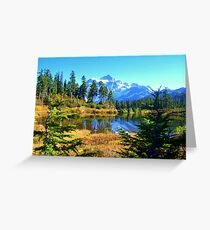 """Fall In The Cascades"" Greeting Card"