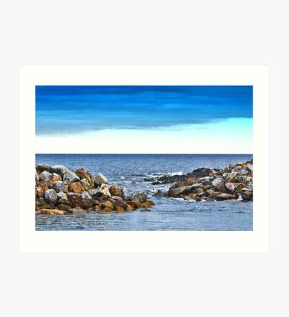 Sealink Dock at Cape Jervis Art Print