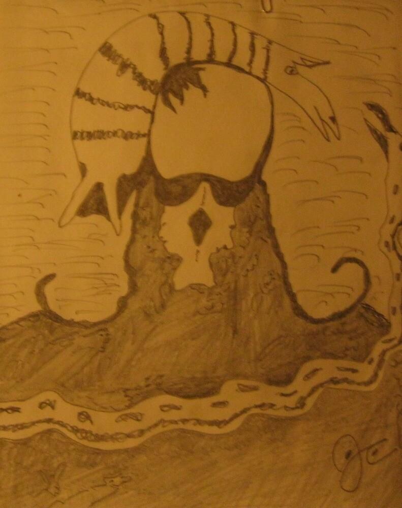 skull head a rock people tribute by jjjcccart