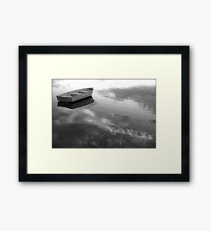 floating on clouds Framed Print