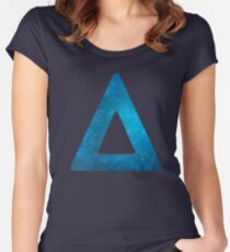 Bastille Galaxy Triangle Women's Fitted Scoop T-Shirt