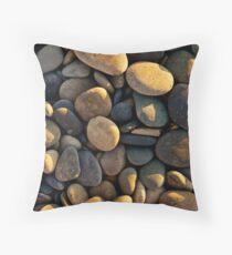 smooth rocks at sunset Throw Pillow