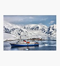 Argentinian Antarctic Station Photographic Print