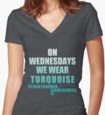 Wear Turquoise Women's Fitted V-Neck T-Shirt