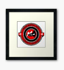 Mixed Martial Arts Competition Ready Kneebar Red  Framed Print