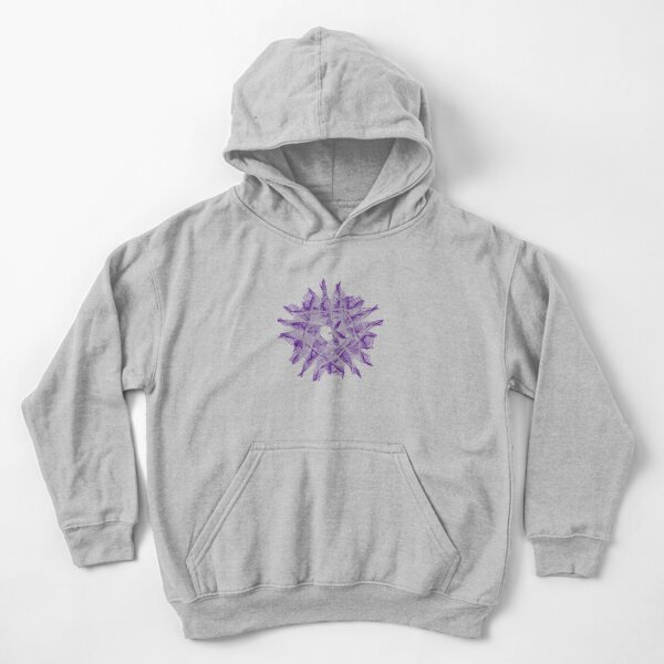 Abstract Violet Spiral Lines Kids Pullover Hoodie