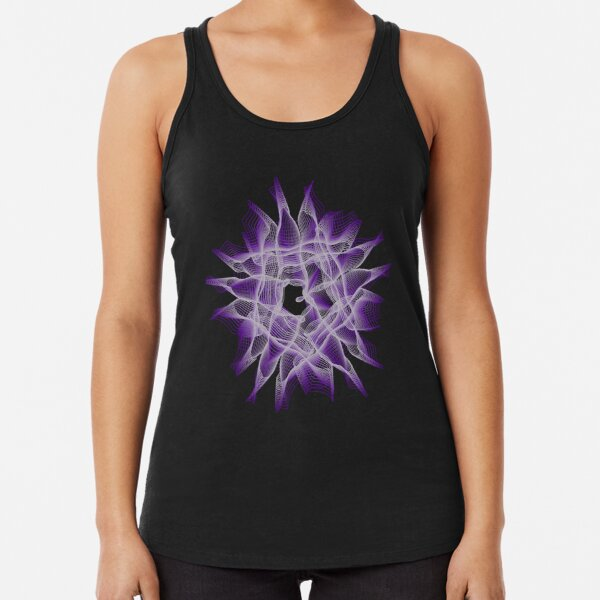 Abstract Violet Spiral Lines Racerback Tank Top