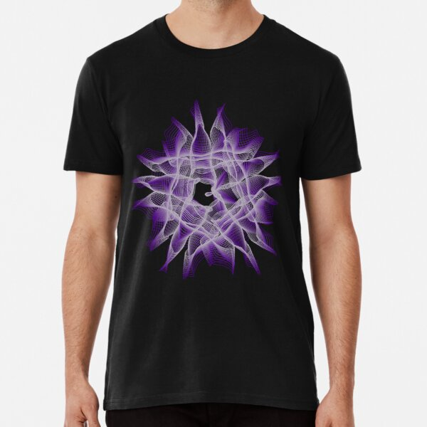 Abstract Violet Spiral Lines Premium T-Shirt