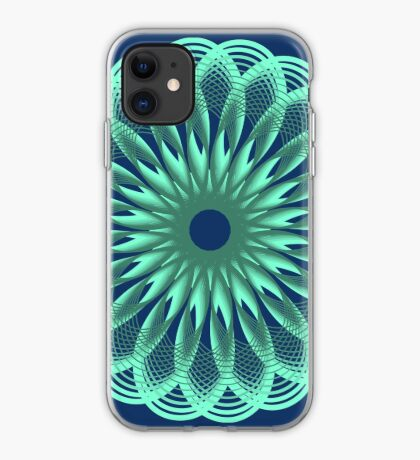 Spirograph in seagreen iPhone Case