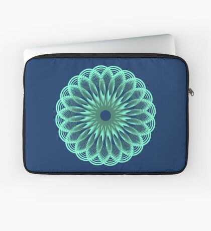 Spirograph in seagreen Laptop Sleeve