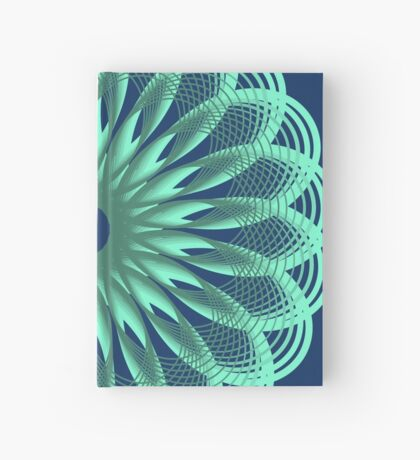 Spirograph in seagreen Hardcover Journal
