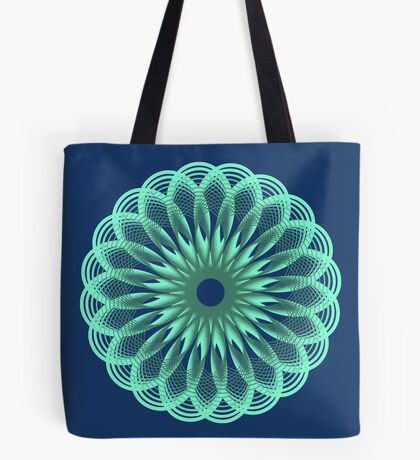 Spirograph in seagreen Tote Bag