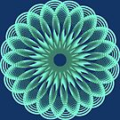 Spirograph in seagreen by Shapes-Mania