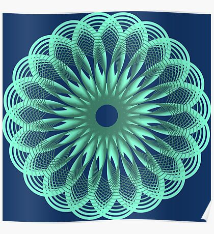 Spirograph in seagreen Poster